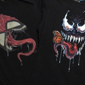 Marvels Spider Man and Venom Tees